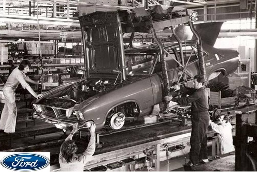 Pictured Is A Xb Ford Falcon On The Ford Broadmeadows Production Line In 1973 Total Produced From S Australian Cars Australian Muscle Cars Aussie Muscle Cars