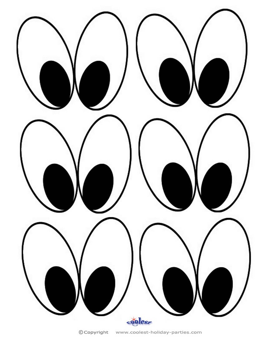 image about Printable Eyes Template referred to as Minimal Printable Eyes 2 Coolest Free of charge Printables Faces and