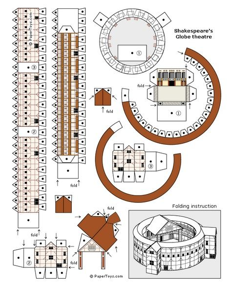 , Globe Theater Model – Free Printable 3D Paper Cut Out Template, My Chernobyl Blog, My Chernobyl Blog