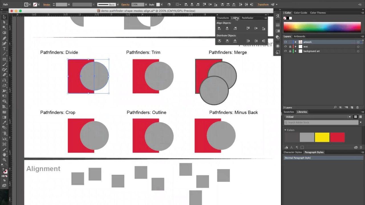 Align tool photoshop