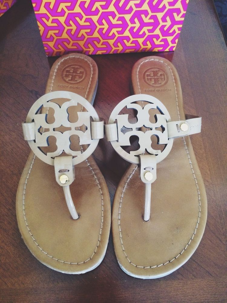 e30c91003fb9 Tory Burch Miller Sandal In Royal Tan Size 8. Find this Pin and more on I  Want ...