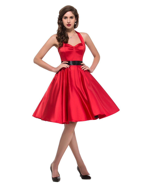 Womens Retro Halter Neck Swing Picnic Party Dress (XS, Black 91-1) at Amazon Women's Clothing store:  https://www.amazon.com/gp/product/B01L15KZUC/ref=as_li_qf_sp_asin_il_tl?ie=UTF8&tag=rockaclothsto-20&camp=1789&creative=9325&linkCode=as2&creativeASIN=B01L15KZUC&linkId=362a6e91f77464a8f43941cffab87c10