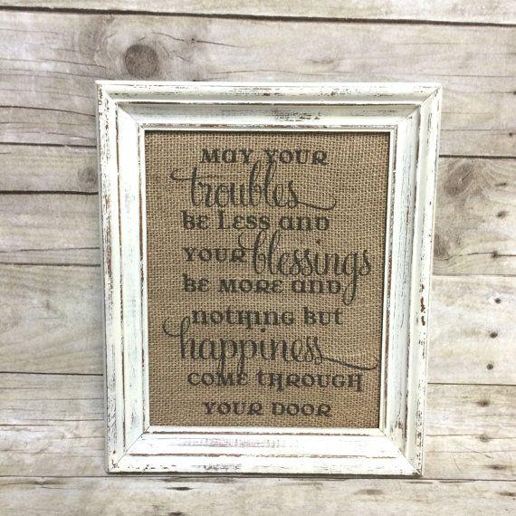 Irish Wedding Gift Ideas: Irish Blessing Housewarming Sign