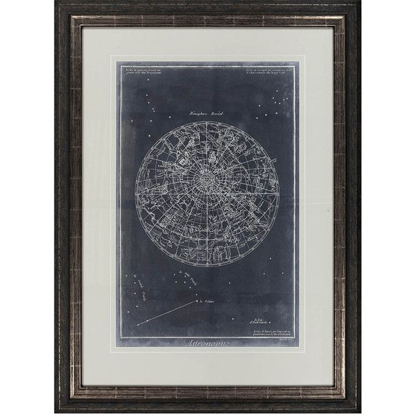 Surya Celestial Diagram 2 Framed Print 1 020 Liked On Polyvore Featuring Home