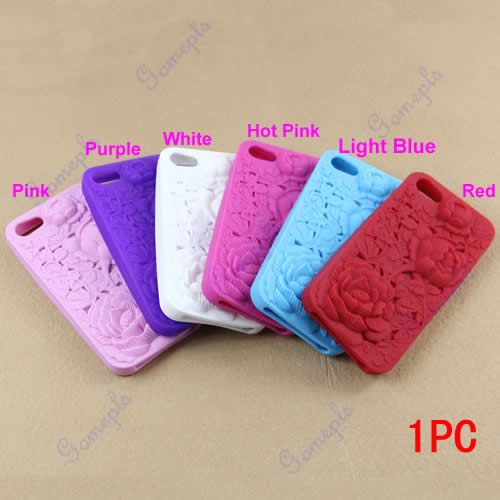 New 3D Sculpture Rose Flower TPU Protector Back Case Cover Skin for iPhone 5 5g   eBay