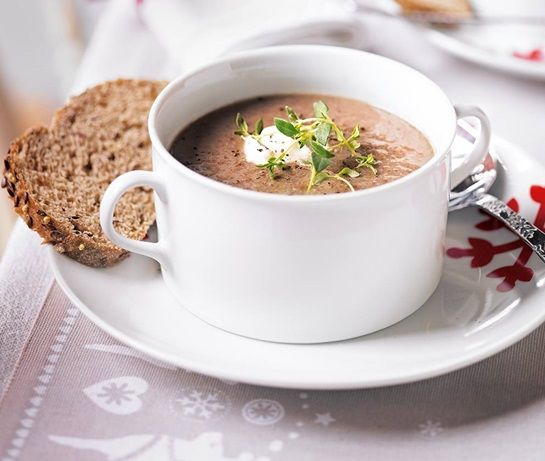 Mushroom And Chestnut Soup Recipe Asda Recipes Chestnut Recipes Veggie Dishes