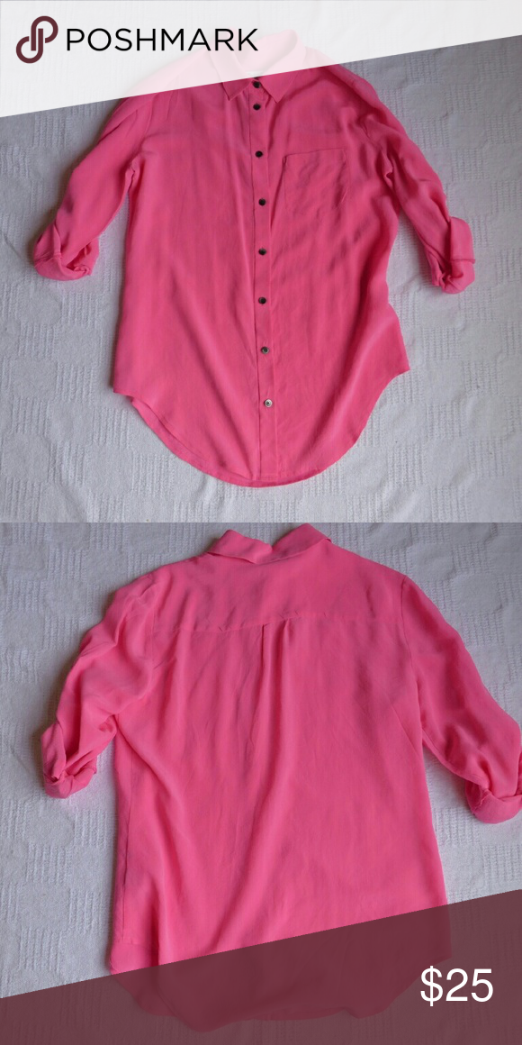7e9567c718f10 Madewell 100% Silk Button Down Shirt Size XS Great condition! Madewell Tops  Button Down Shirts
