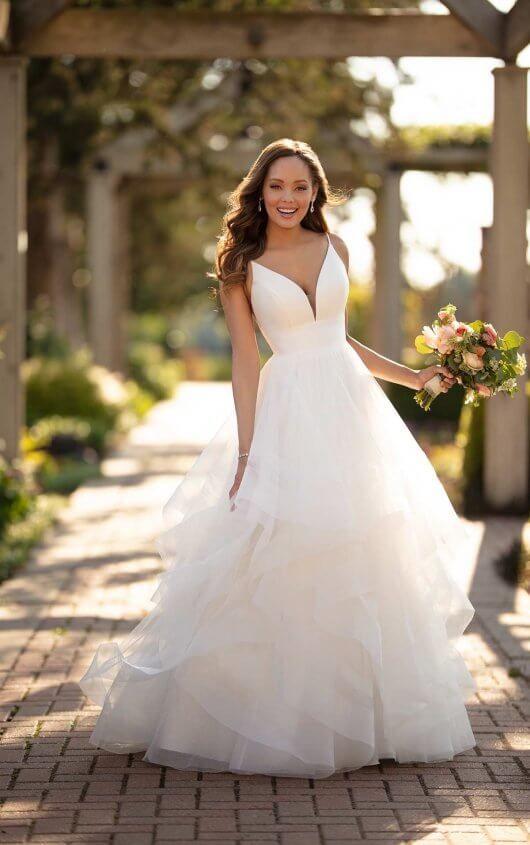 Modern Ballgown with Mixed Fabrics - Stella York Wedding Dresses