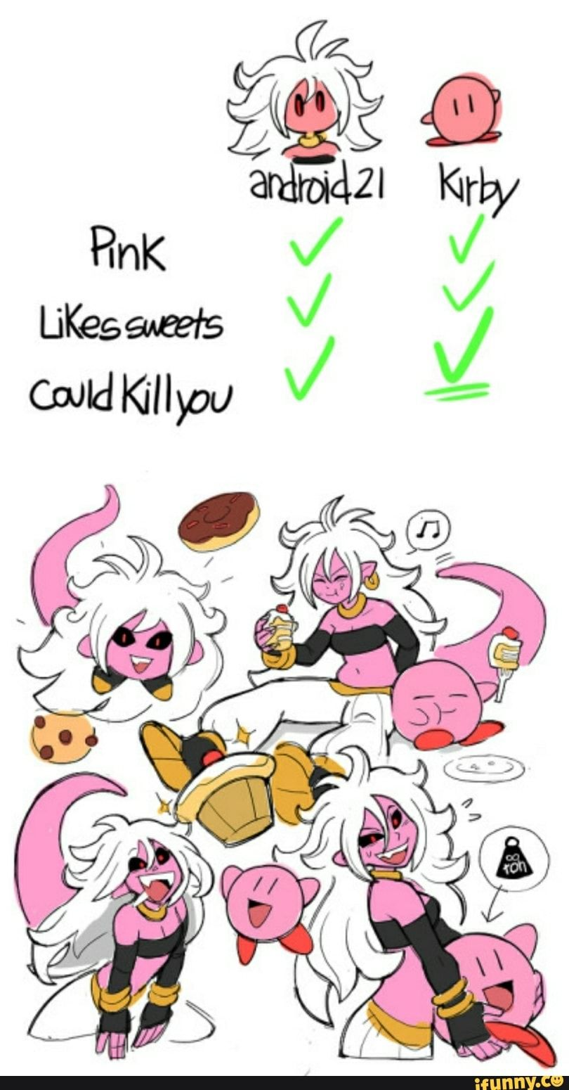 Dbz Dragonballz Android21 Kirby Ifunny With Images