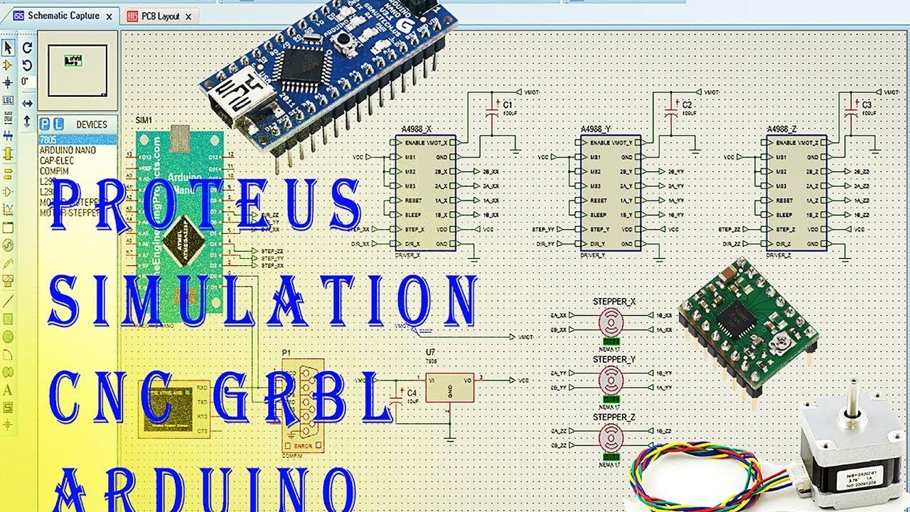 Proteus Simulation CNC GRBL Arduino Part  1 | DIY CNC