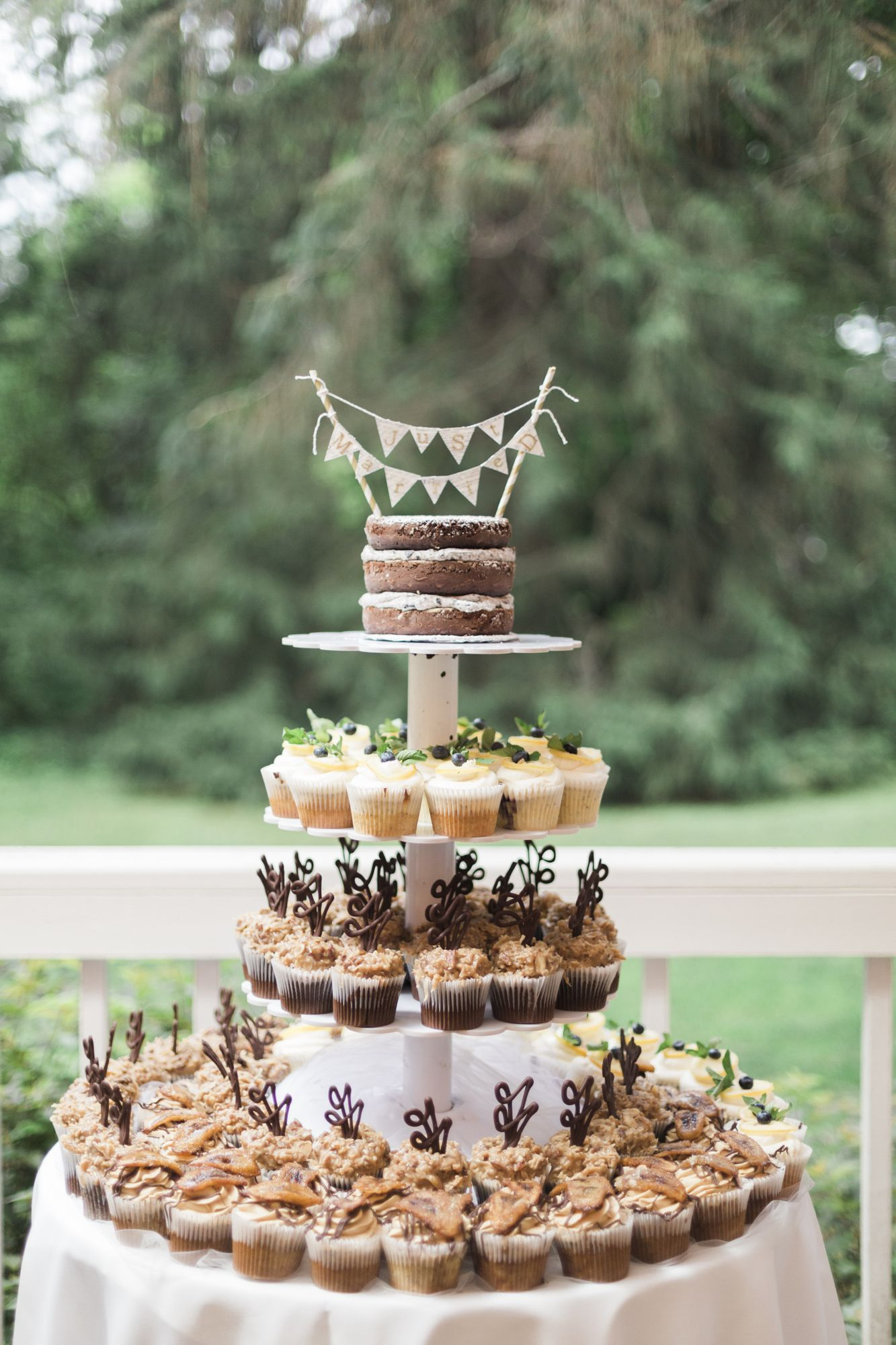 Tiered cupcakes with naked cake topper fairy tales pinterest