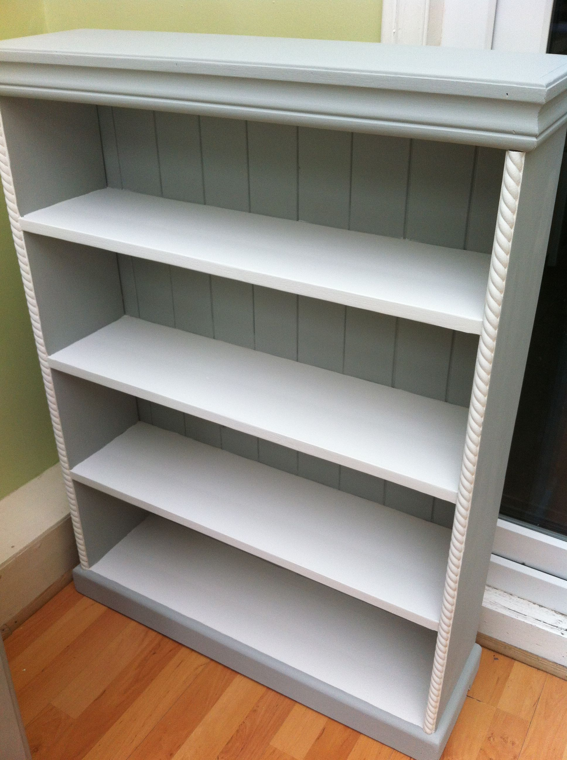 Bookcase Painted With Annie Sloan Chalk Paint Paris Grey And Old White