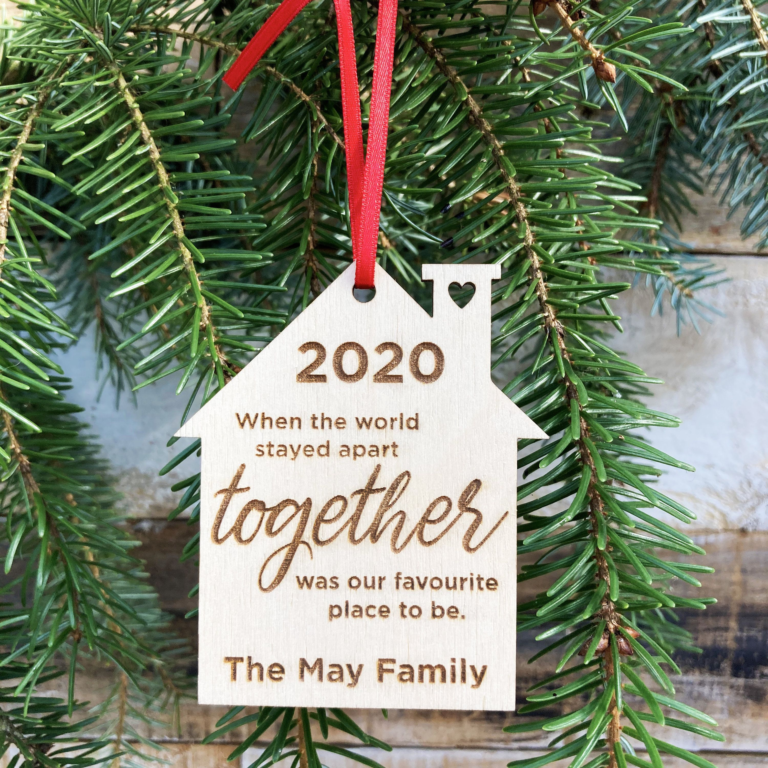 2020 Christmas Tree Decoration Personalised Wooden Etsy In 2020 Wooden Christmas Decorations Christmas Tree Decorations Tree Decorations