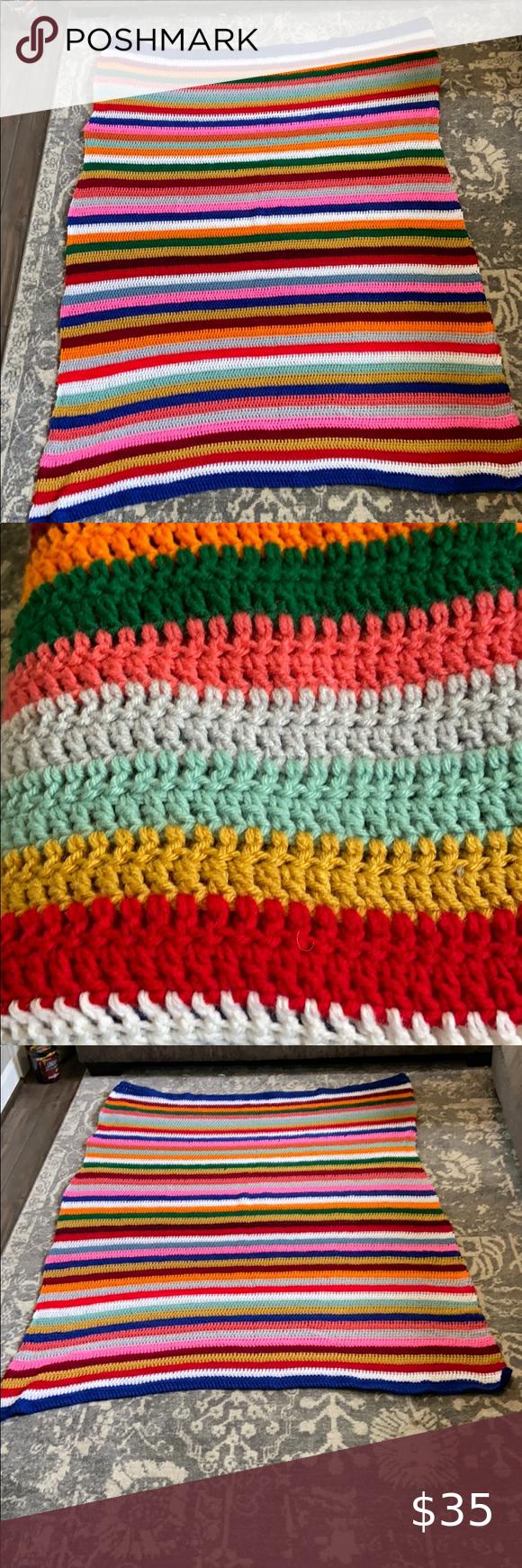 Handmade crocheted blanket