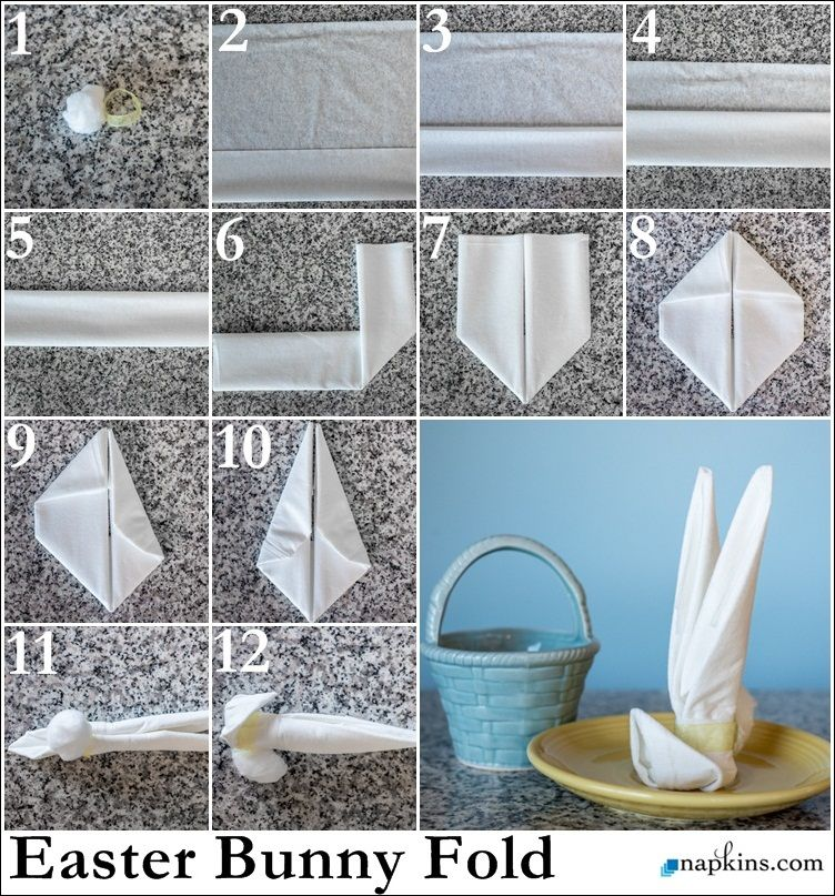 Easter Bunny Napkin Fold With Images