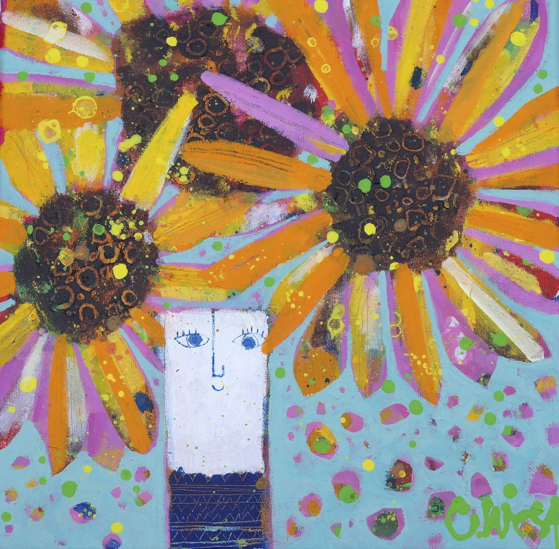 Happy SunFlowers by Claire West