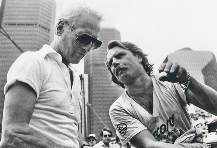 pi Keke Rosberg and Paul Newman - Detroit.