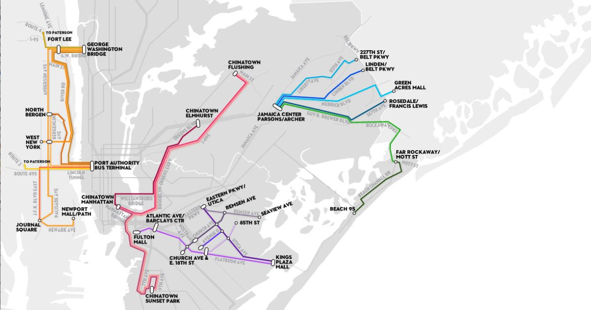 Mapping NYC's Shadow Transit System NYC DOLLAR VANS The