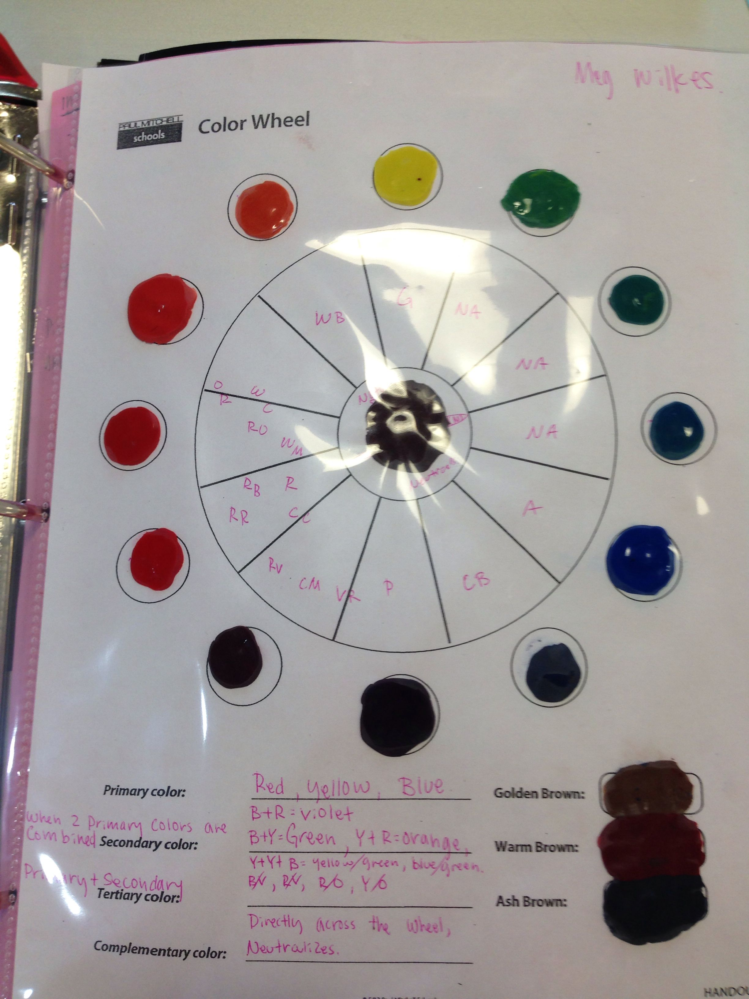 Color wheel | Paul Mitchell-Boise | Music, Music ...