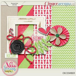 December mini kit by Neia Scraps