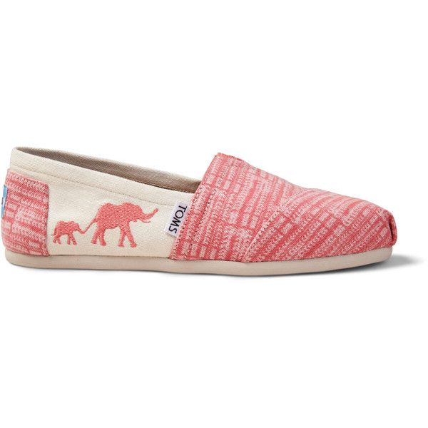 b6f93619009 The TOMS Animal Initiative Elephant Spiced Coral Women s Classics... (€50)  ❤ liked on Polyvore featuring shoes