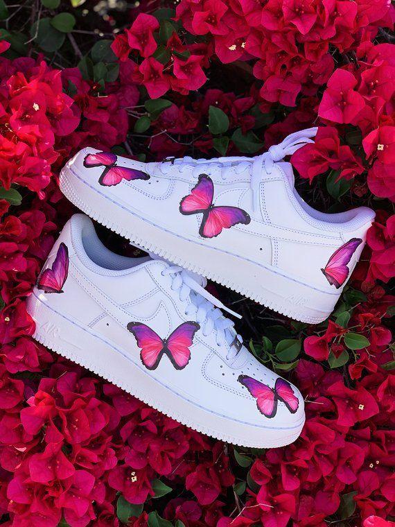 Nike Shoes, Custom Nike, Butterfly Shoes, Custom Shoes