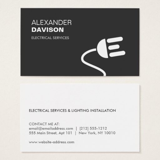 ELECTRICIAN LOGO MODERN BUSINESS CARD I Zazzle.com (With Images