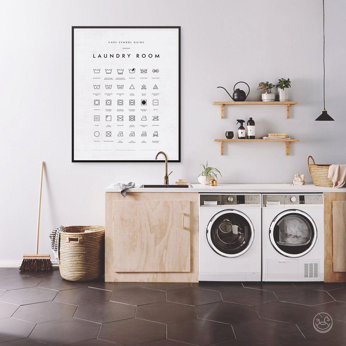 Laundry Room Symbols Print Printable Art Laundry Wall Decor Etsy Laundry Room Art Modern Laundry Rooms Laundry Art