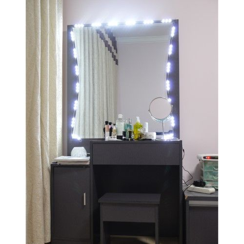 Penson Co 10ft Led Mirror Light Kit Vanity Mirror Light Lighted Cosmetic Makeup With Dimmer Wireless Controller Diy Vanity Mirror Makeup Vanity Mirror Mirror With Lights