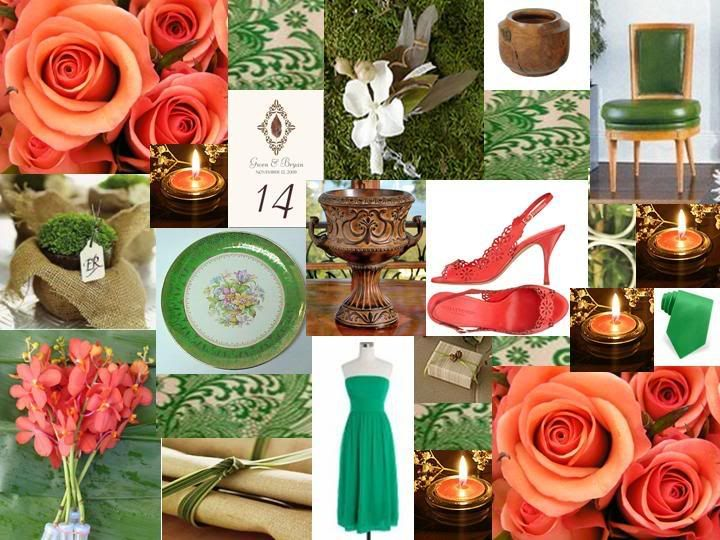 green coral wedding | Coming Soon... | Pinterest | Inspiration ...