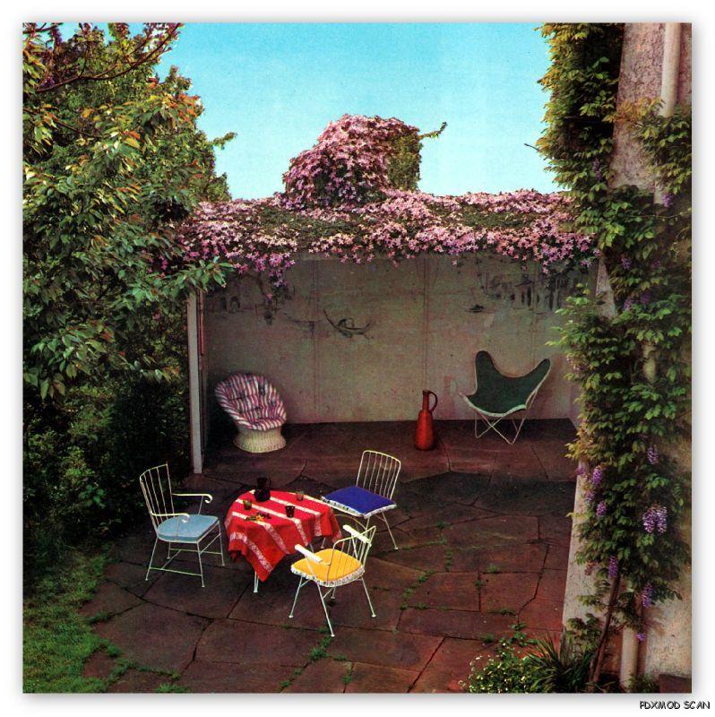 15 Creative Garden Ideas You Can Steal: 1968 Mid Century Modern Vintage Garden Design Ideas Plants