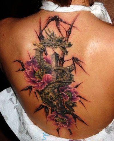 Tatuaze Smoki I Kwiaty Na Plecach Dragon Tattoo For Women Picture Tattoos Dragon Tattoo Designs