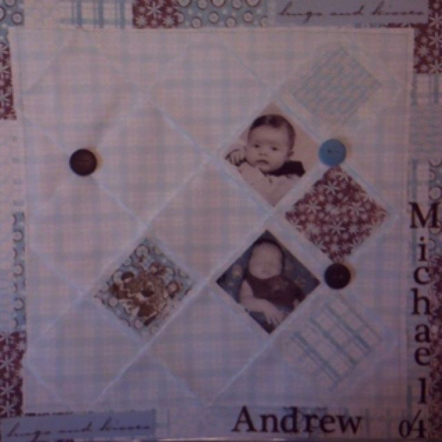 Paper folding and stitching to create quilted look