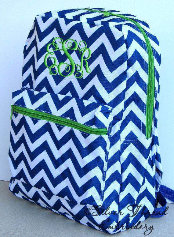 Children Chevron Backpack Personalized Monogrammed School Girl Boy