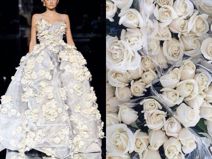 Stunning fusion of nature combining with fashion