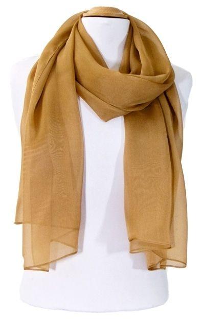 Etole beige camel mousseline de soie premium   mesecharpes.com ... 70b95010896