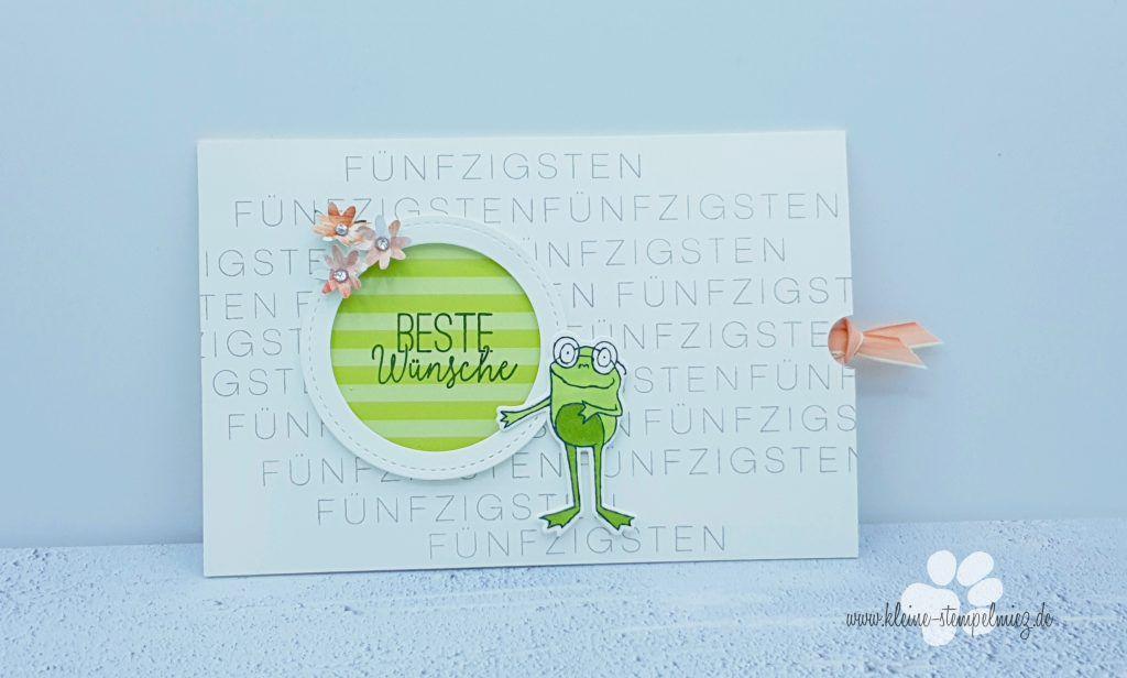 Froschige Gluckwunschkarte Zum 50 Geburtstag Gluckwunschkarte