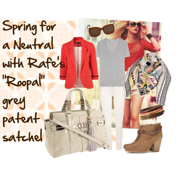 """""""Spring Neutral"""" with Rafe's Roopal patent satchel by rafe-new-york on Polyvore"""