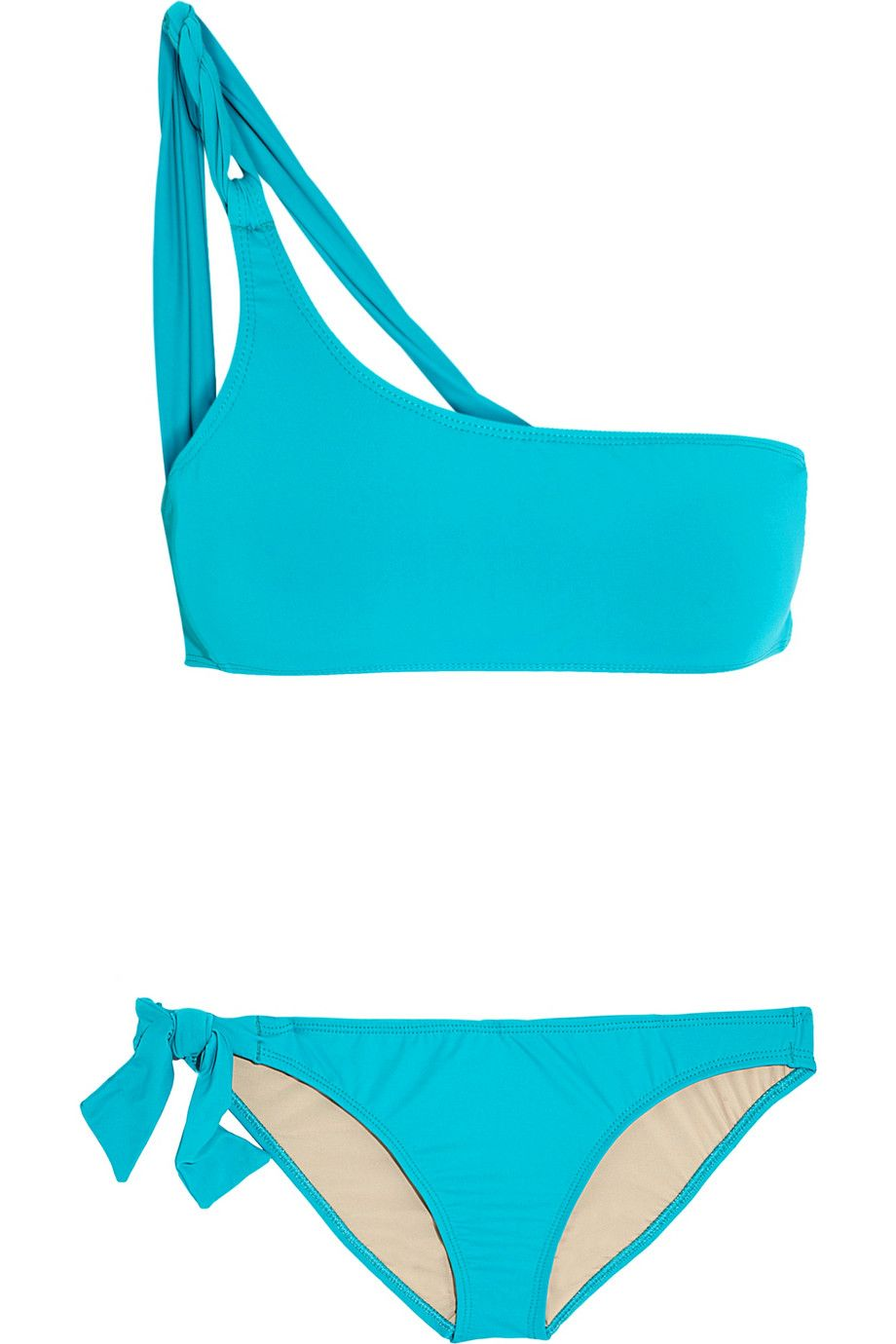Calvi one-shoulder bikini set - Blue Tara Matthews Discount Codes Clearance Store Sale Reliable Latest Collections Outlet Many Kinds Of 8DpvY