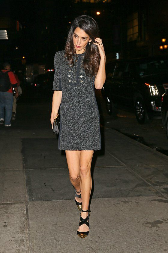 jenner hair style amal clooney takes the reworked ballerina shoe to stylish 5854