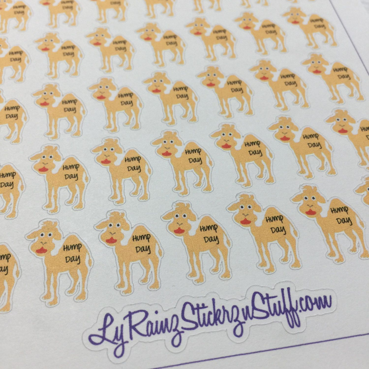49 Hump Day Camel Stickers for Passion Planner, Happy Planner, ErinCondren, Filofax, Bujo, Kikkik...etc by LyRainzStickrzNStuff on Etsy
