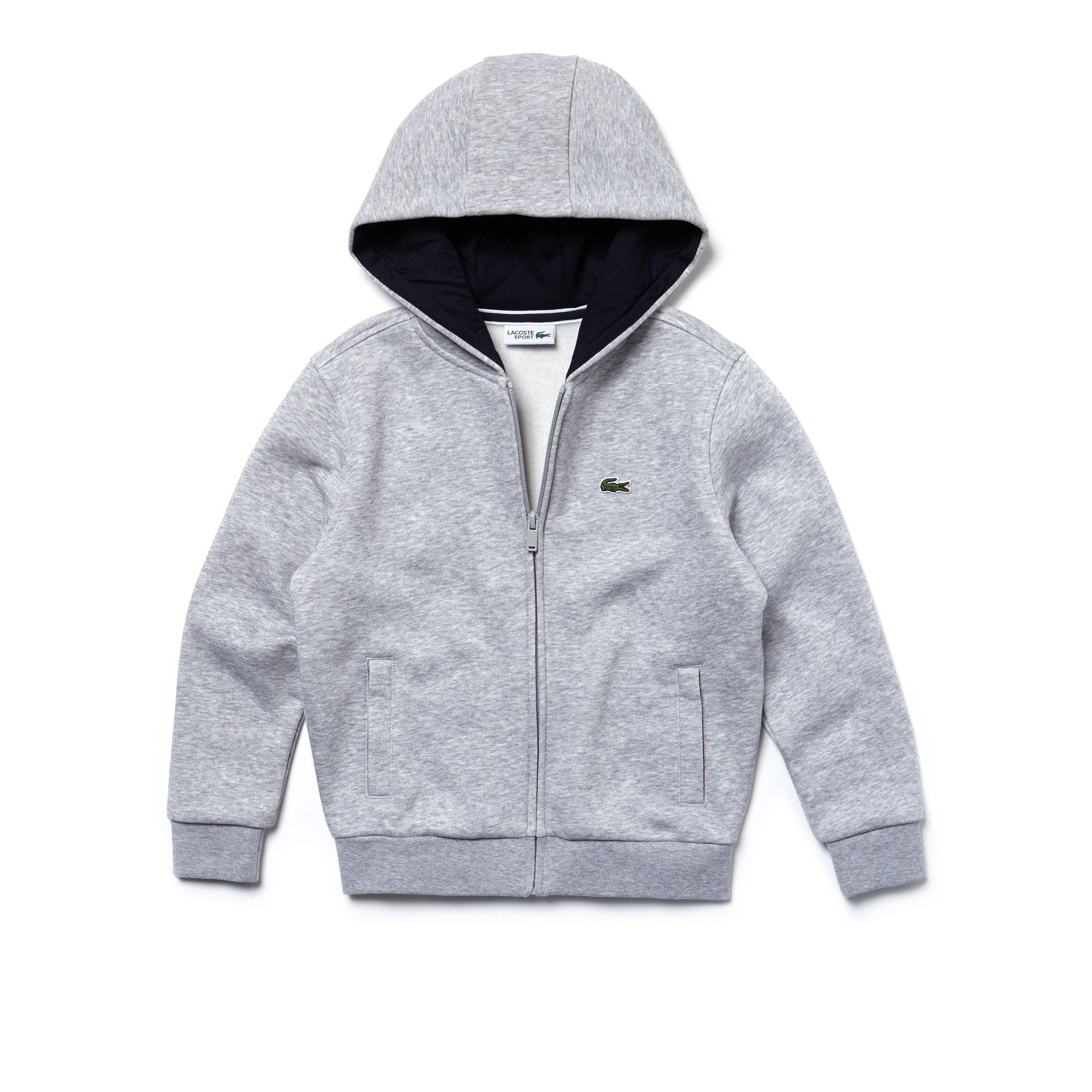 Kidsu sport tennis zippered fleece sweatshirt by lacoste products