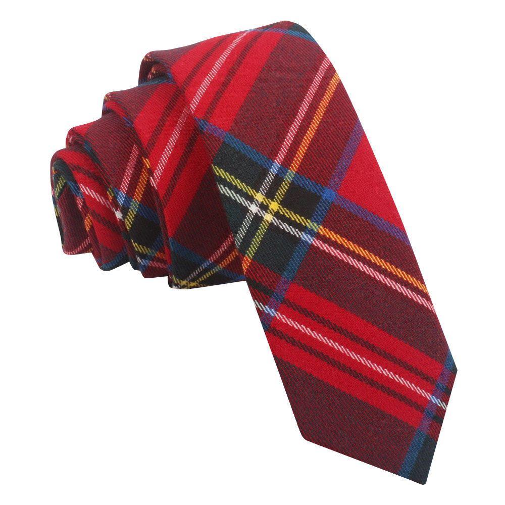 Escocia Escocés Stewart Rojo Tartán Cufflinks