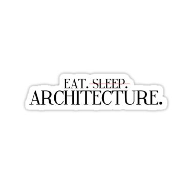 Eat sleep architecture 2 sticker by caroline mathews