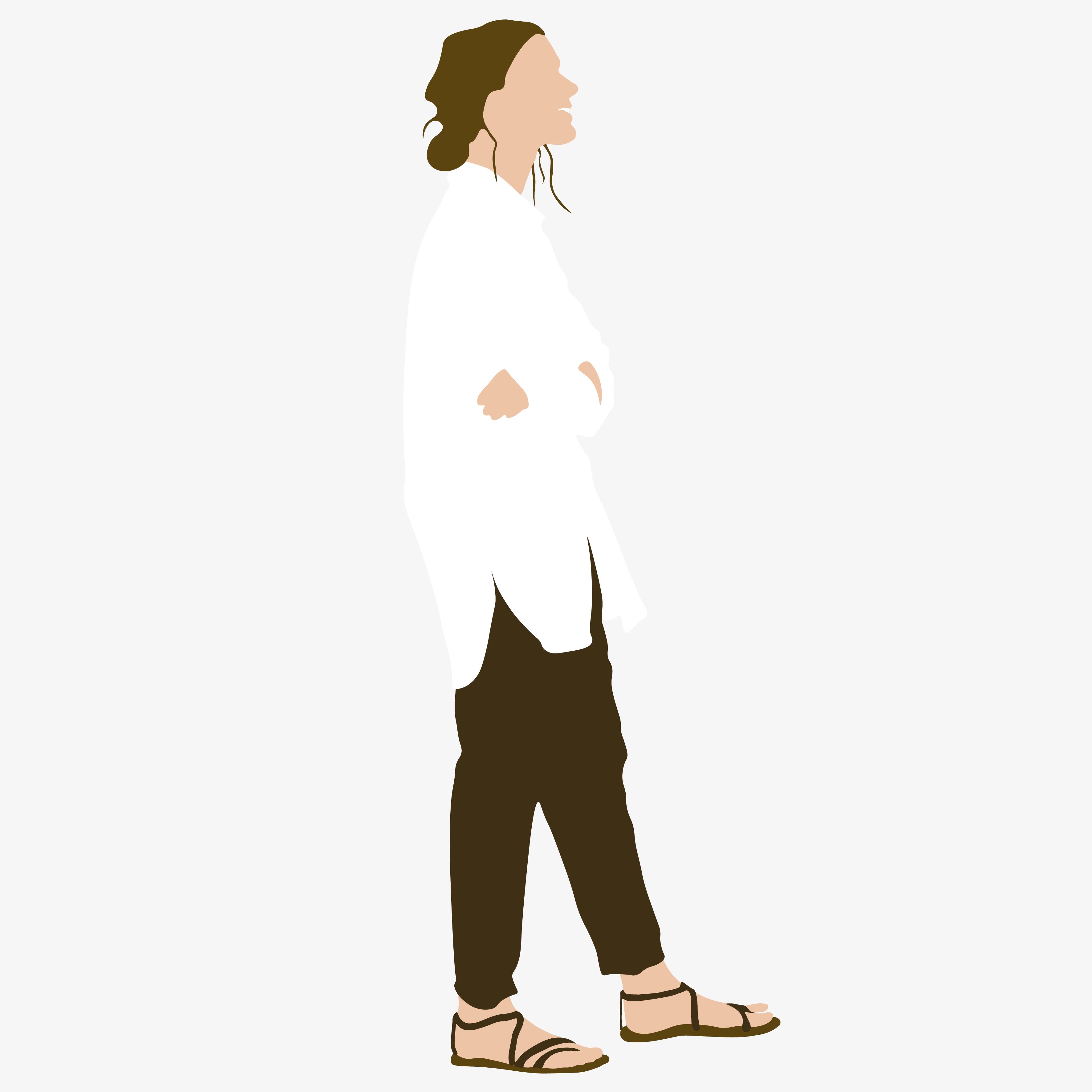 "9 Flat Vector People Illustration - ""On the street"""