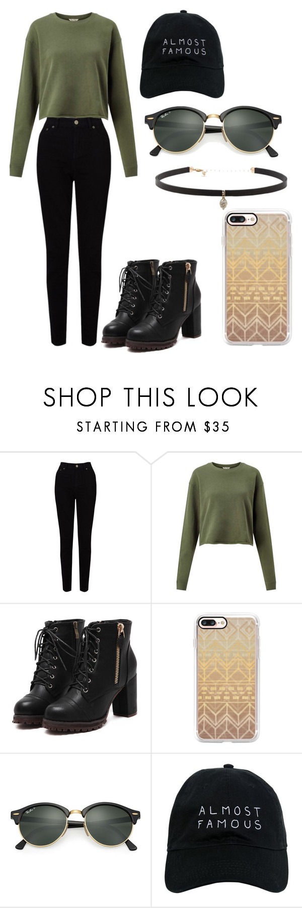 """Normal LA day"" by sarahype on Polyvore featuring EAST, Miss Selfridge, Casetify, Ray-Ban, Nasaseasons and Carbon & Hyde"
