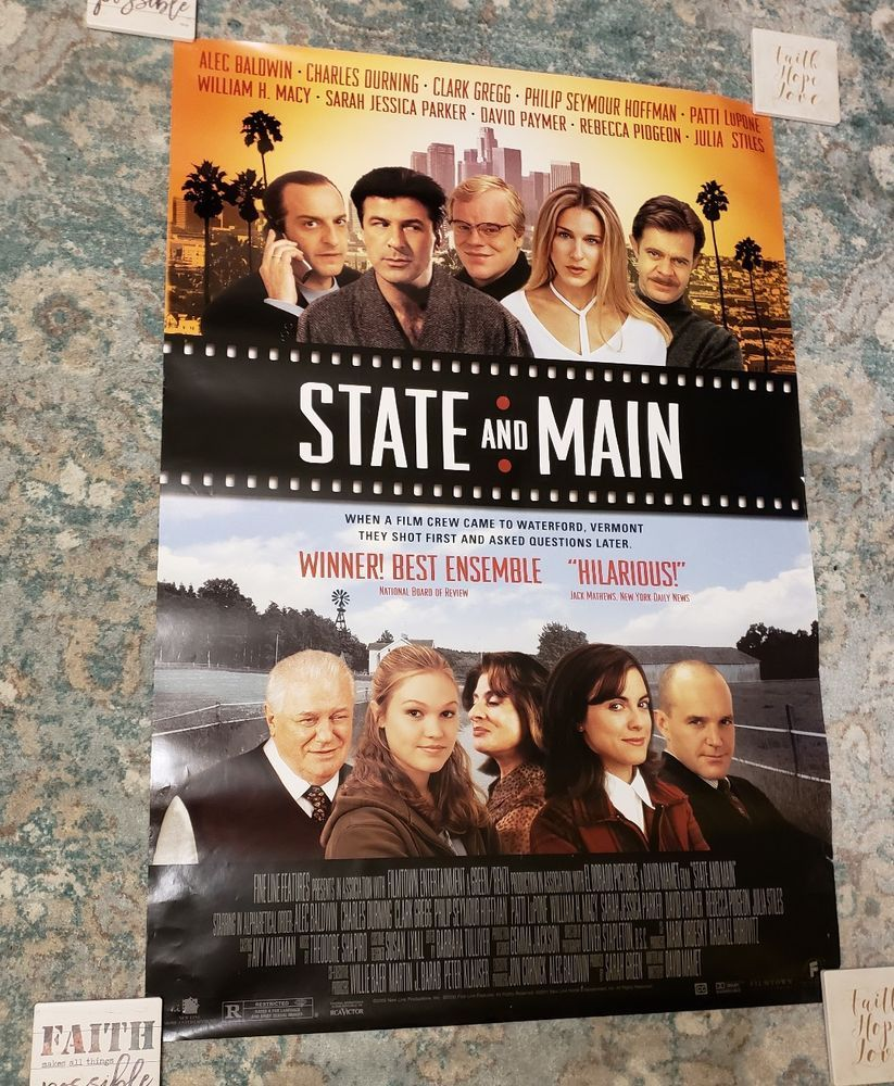 STATE AND MAIN 2001 Movie Poster 27 x 39 Video DVD Ad Alec