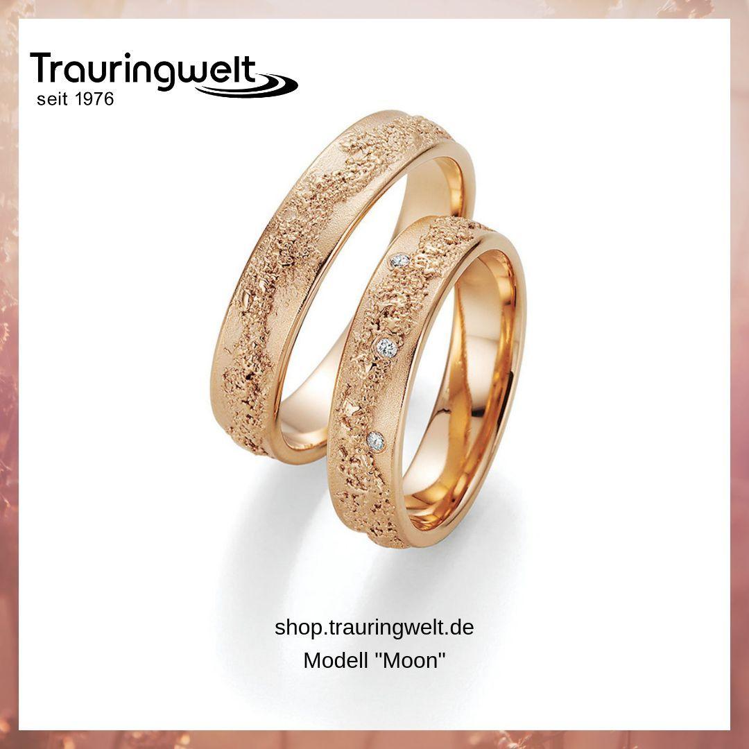 Ausgefallene Trauringe Aus 585 Rotgold Mit Besonderer Oberfläche Trauringe Klassische Trauringe Ringe