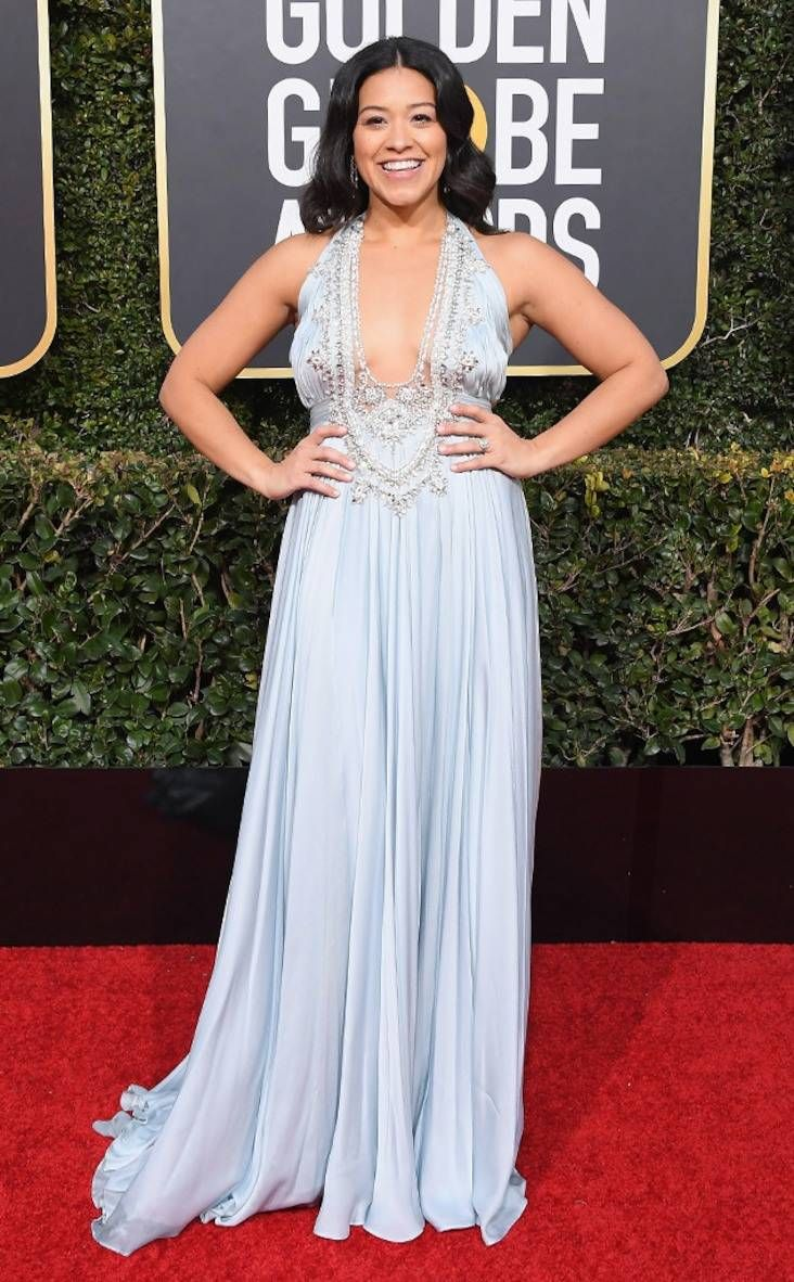 2019 Golden Globes  Gina Rodriguez in Reem Acra  a85ff3b6f