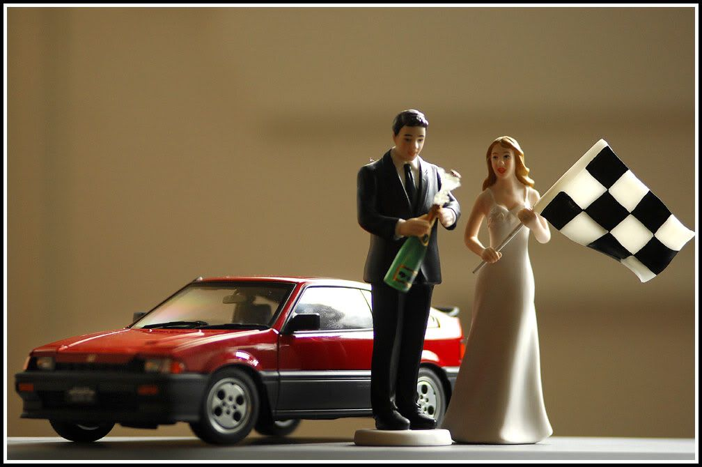 Wedding Cake Topper General Posts Red Pepper Racing